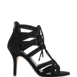 White House Black Market Shoes - Suede Lace Up Gladiator Heel